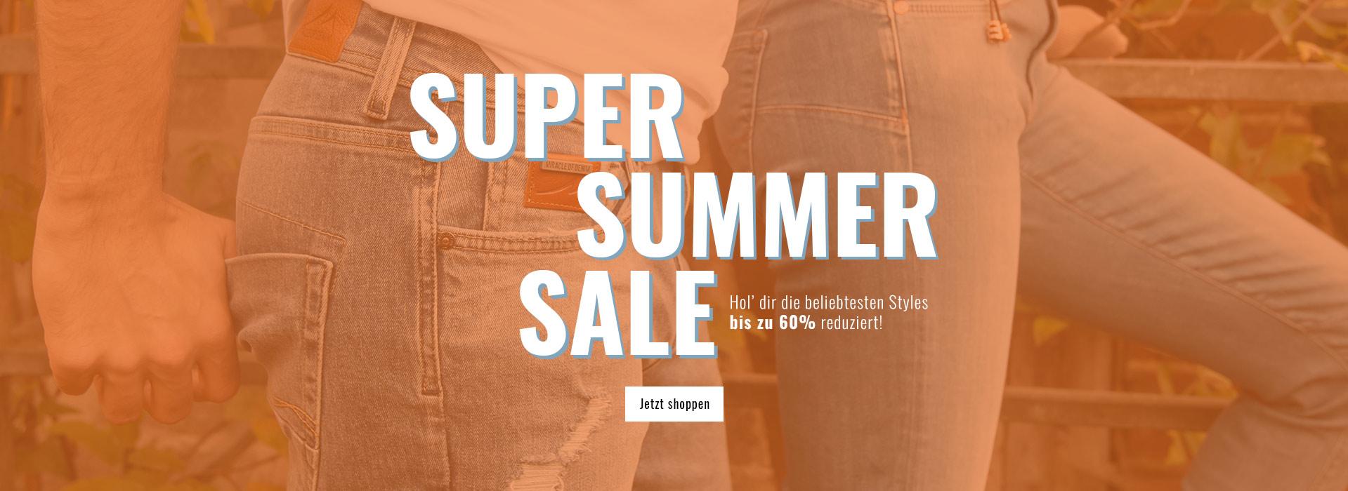 Jetzt Jeans und Hosen bis zu 60% reduziert